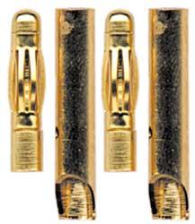 Fiches Gold 4mm mâles/femelles. 2 paires