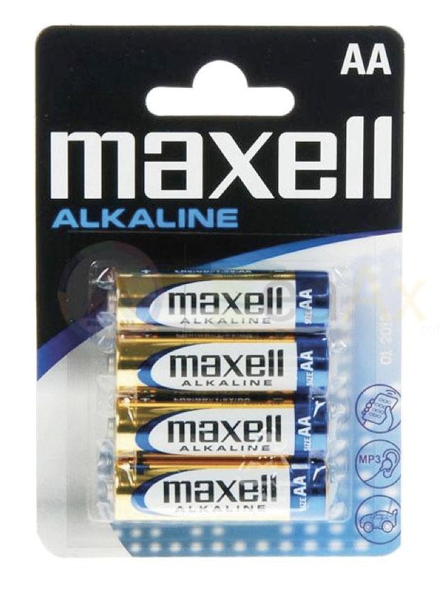 Piles 1.5V LR6-AA alkaline (4 éléments)