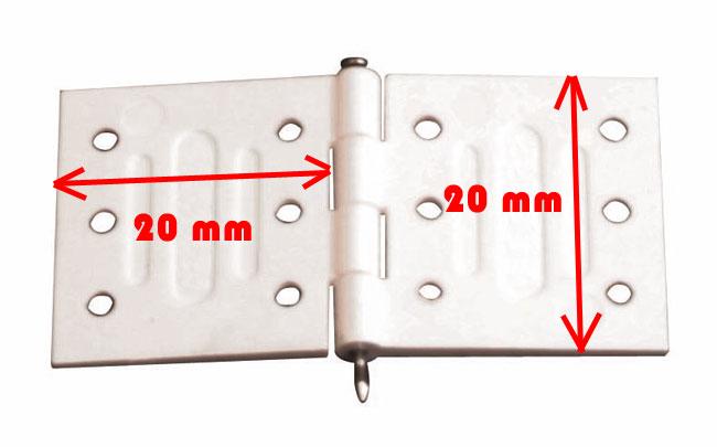 Charnière en nylon, axe métal.<br>10 pièces
