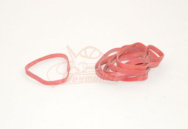 Bracelet caoutchouc.  ø 75 mm, 1 x 6 mm. Pochette de 10 pièces.