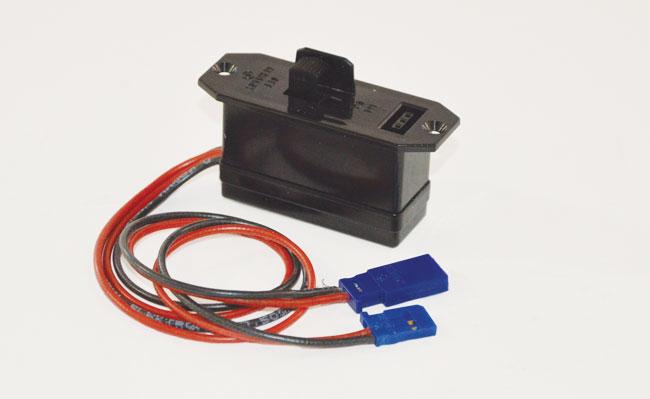 Interrupteur de réception avec prise de charge Graupner. 1 pièce