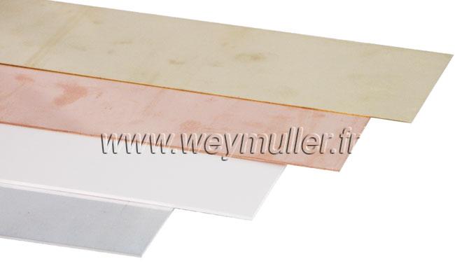 Tole en aluminium. 2,0 x 500 x 250 mm. 1 pièce