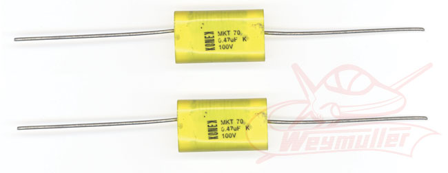 Condensateurs antiparasites. 470nF/50V. 2 pièces