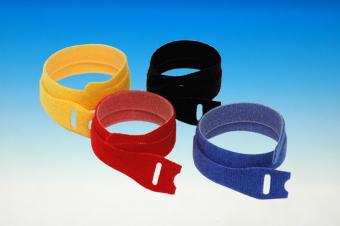 Bracelet velcro noir. 7x200mm. 10 pièces