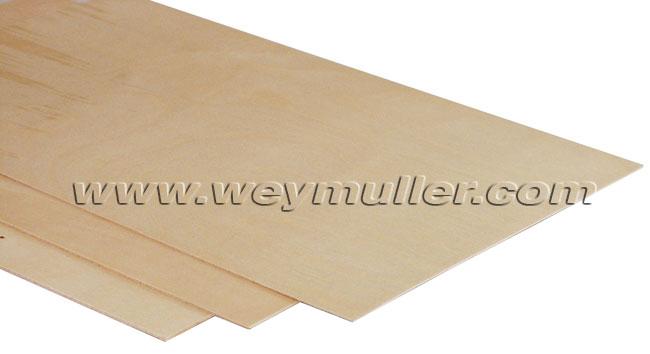 Contre-plaqué en peuplier 4,0 mm 3 plis. 1 planche