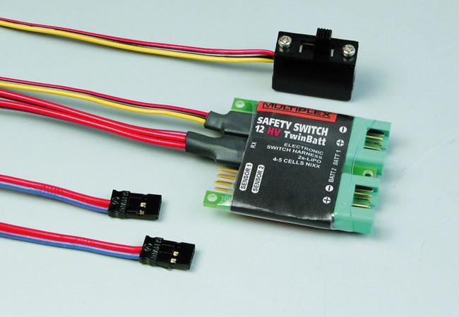 Inter de réception électronique SAFETY-SWITCH 12HV Twinbatt