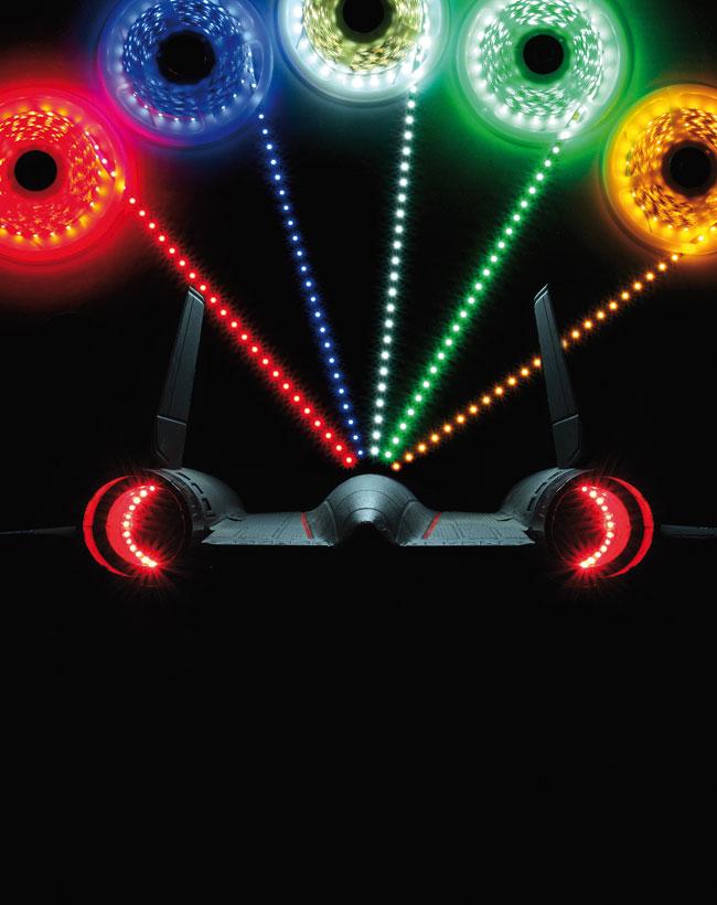 LED Strips 6-12V rouge. 1m.