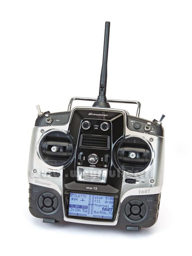 Radio Graupner MX12 V2 2,4GHz HoTT 6/6/0 accus Tx