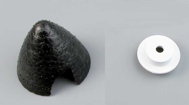 Cône noir ø 62 mm + support