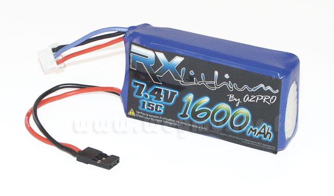 Accu Lipo 7,4V 1600mA prise Graupner / hitec