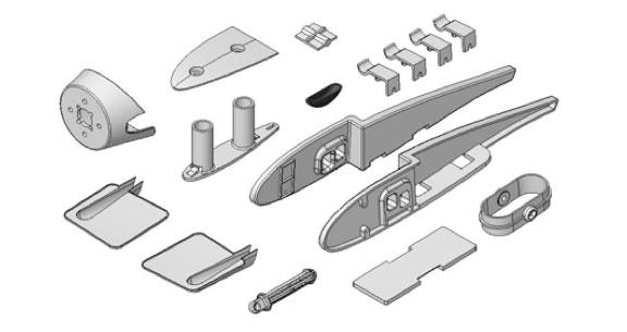 Support moteur + pièces plastiques Solius