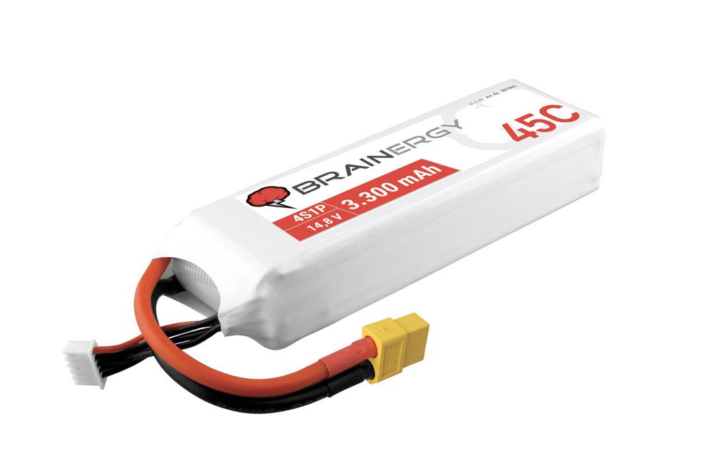 Pack accus 4 éléments 14,8V 3300mA 45C XT60