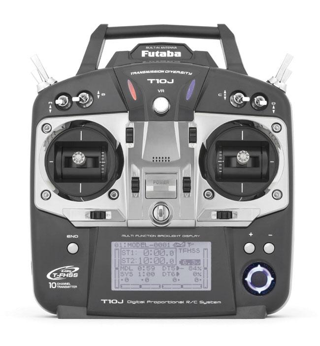 Radio Futaba 10 J 2,4GHz 10/8/0 accu Tx Lipo + chargeur Tx. Mode 1