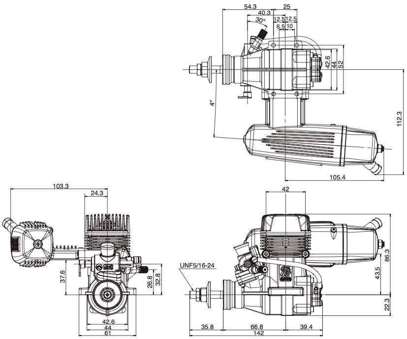 moteurs thermiques    os max    os max 2 temps    moteur os max ggt15 essence    weymuller mod u00e9lisme