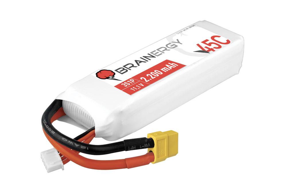 Pack accus 3 éléments 11,1V 2200mA 45C - XT60