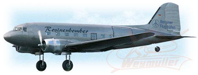 Kit Douglas DC3 1,80m ARF (argent)