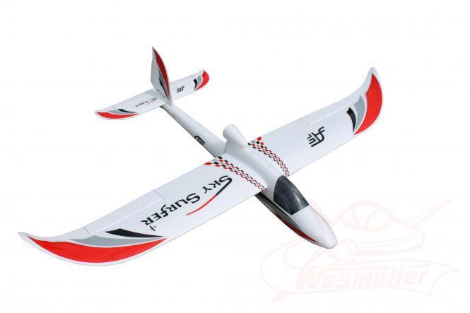 Planeur Sky Surfeur 1,40m PNP. Rouge