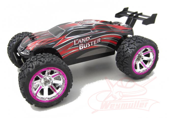 Voiture Land Buster 1/12 2,4 GHz, Rouge