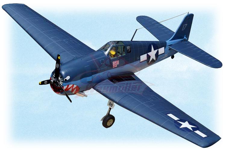 Kit F6F Hellcat ARF 1,53m