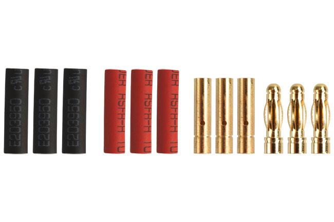 Fiches Gold 3mm mâles/femelles. 3 paires