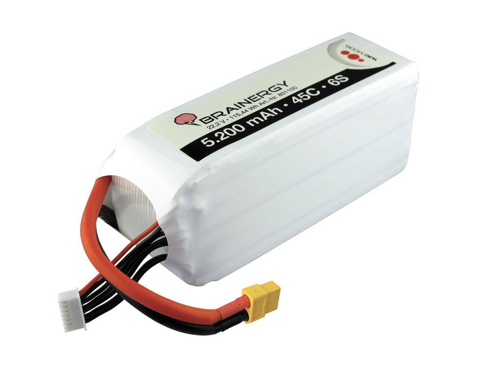 Pack accus 6 éléments 22,2V 5200mA 45C XT60