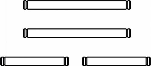 Axe de direction Splinter + clips. 4 pièces