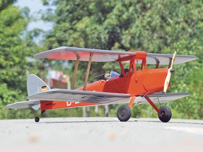 Kit Tiger Moth ARF rouge 1,40m