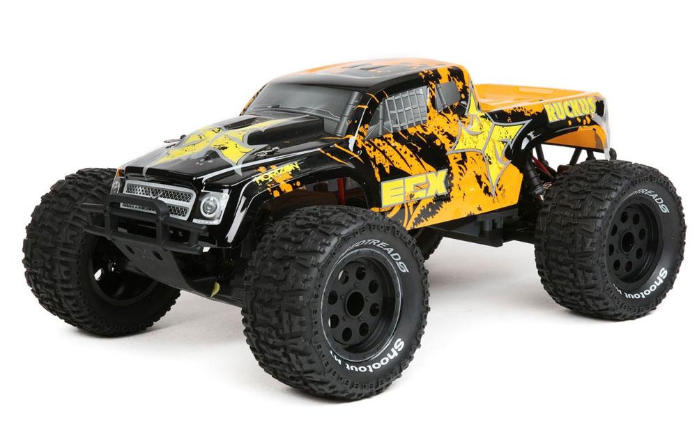 Monster Truck Ruckus 2WD Brushed RTR avec LiPo, noir/jaune 1/10
