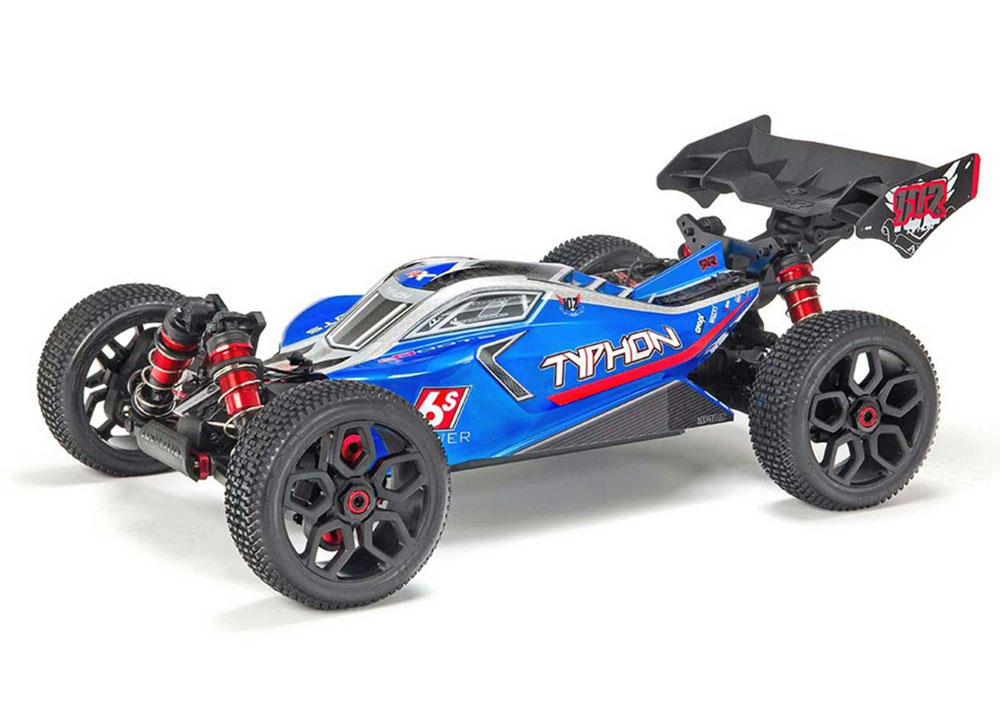 Buggy TYPHON 6S BLX Brushless 4WD RTR, bleu/argent