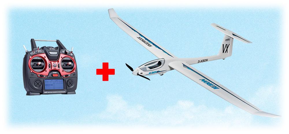 Planeur Heron RR 2,40m + MZ12 PRO