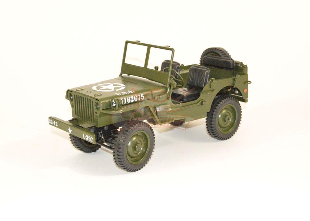 Jeep Milatary CAR RTR 1/12. Vert
