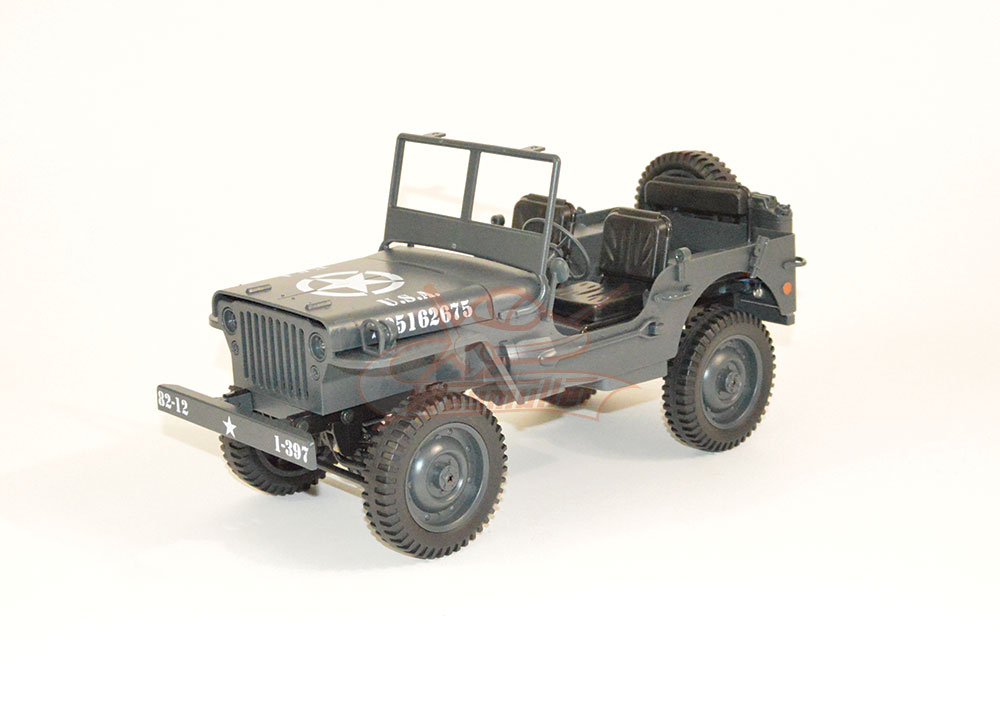 Jeep Milatary CAR RTR 1/12. Gris