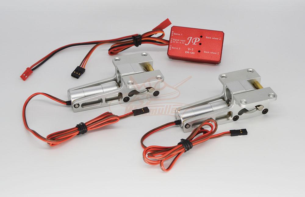Train rentrant électrique 2 jambes + séquenceur. 15 kg