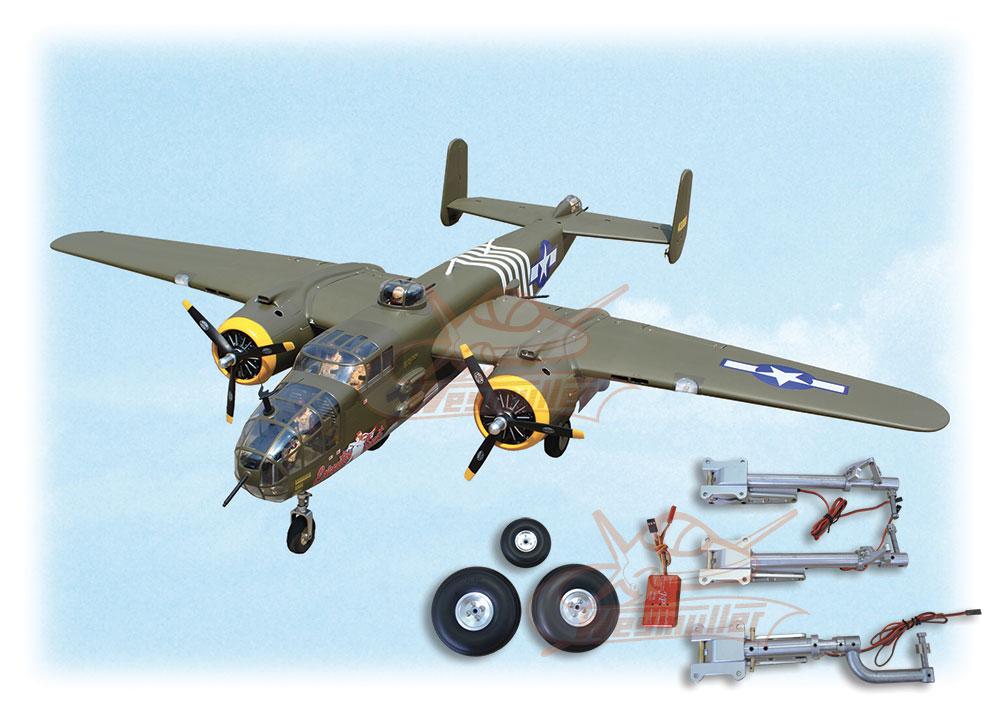 Kit B25 Mitchell Bomber ARF 2,41m + train rentrant + jambes