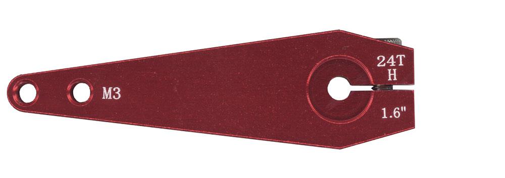 Palonnier de servo alu 24T simple 40mm. 1 pièce