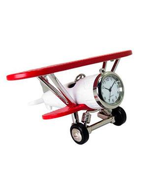 Montre avion blanc et rouge