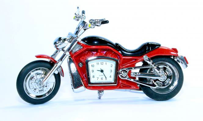 Montre moto rouge
