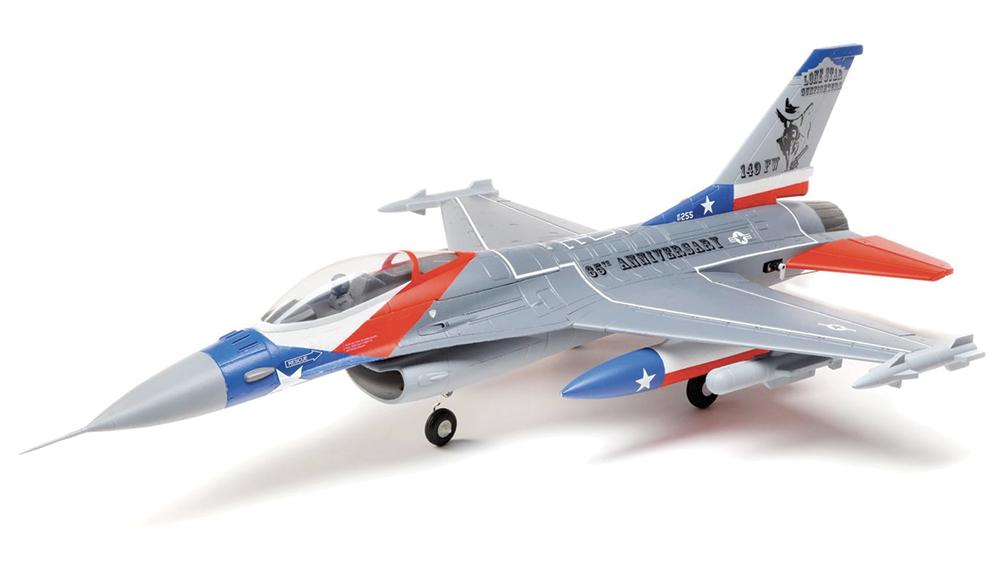 Kit F-16 Falcon 64mm EDF BNF Basic avec AS3X et SAFE Select. 0,72m