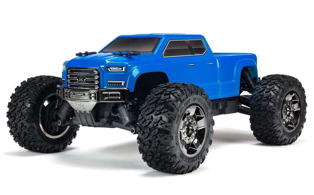 Voiture 1/10 BIG ROCK CREW CAB 3S BLX 4WD Brushless Monster Truck avec Spektrum RTR, Bleue
