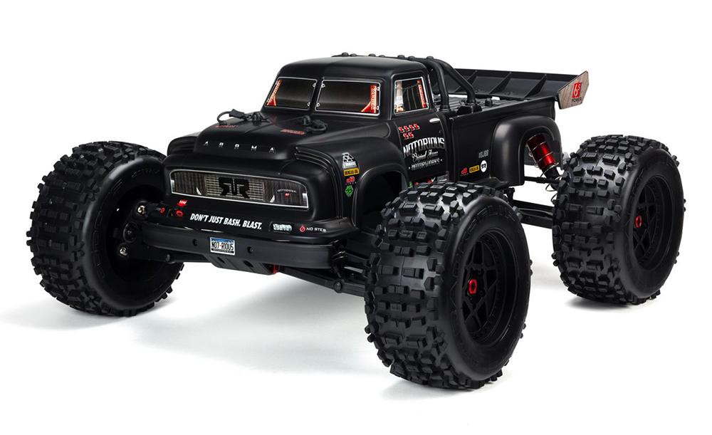 Voiture 1/8 NOTORIOUS 4WD BLX Stunt Truck 6S RTR, noir