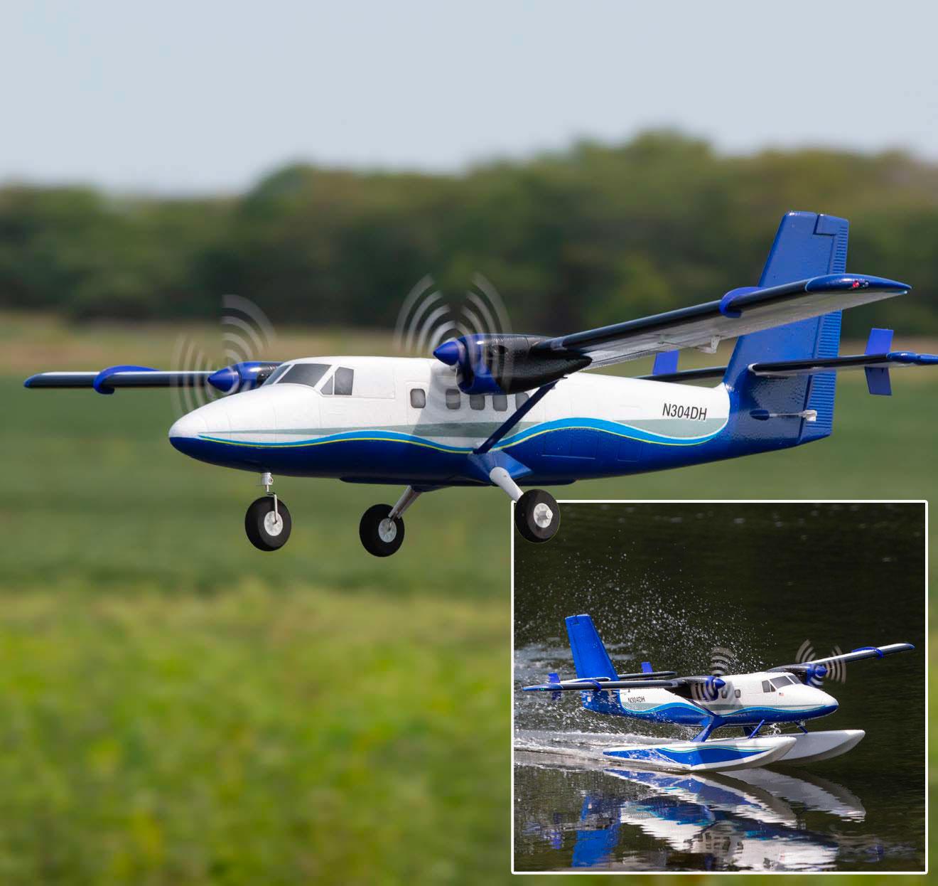 Twin Otter 1.2m PNP avec flotteurs