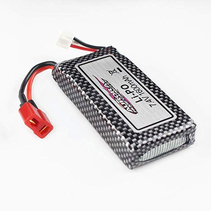Pack accus 2 éléments 7,4V 1600mA 25C - Dean