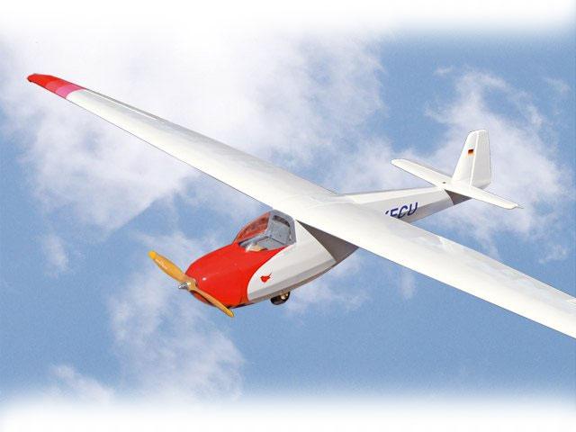 Planeur Motorspatz 2500 ARF 2,52m. Rouge/blanc