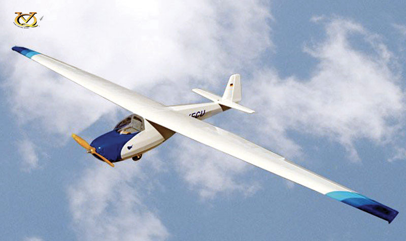 Planeur Motorspatz 2500 ARF 2,52m. Bleu/blanc