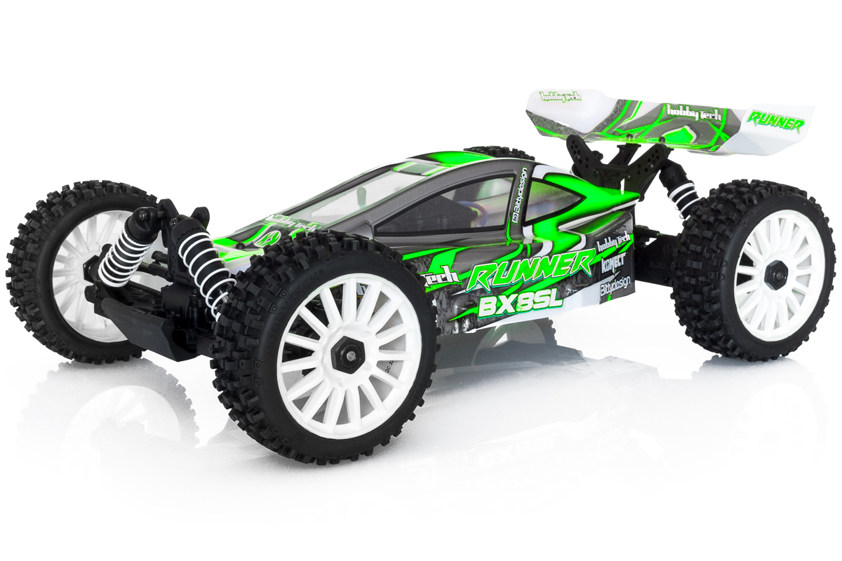 Buggy BX8 Runner Vert type SL charbon RTR 1/8