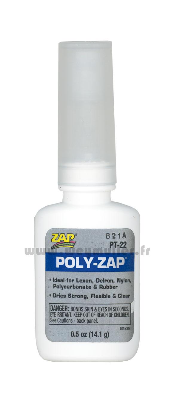 Colle ZAP cyano pour plastique 14g