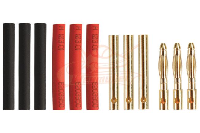 Fiches Gold 2mm mâles/femelles. 3 paires