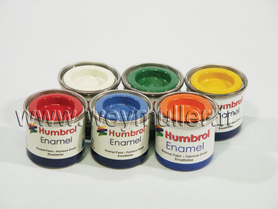 Pots de peinture de 50ml et 14ml pour maquettes plastiques for Peinture pour plastiques